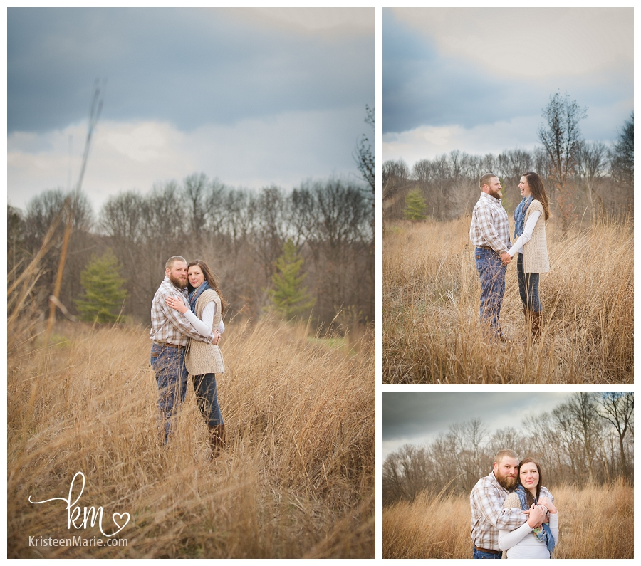 fall engagement photography in Indianapolis
