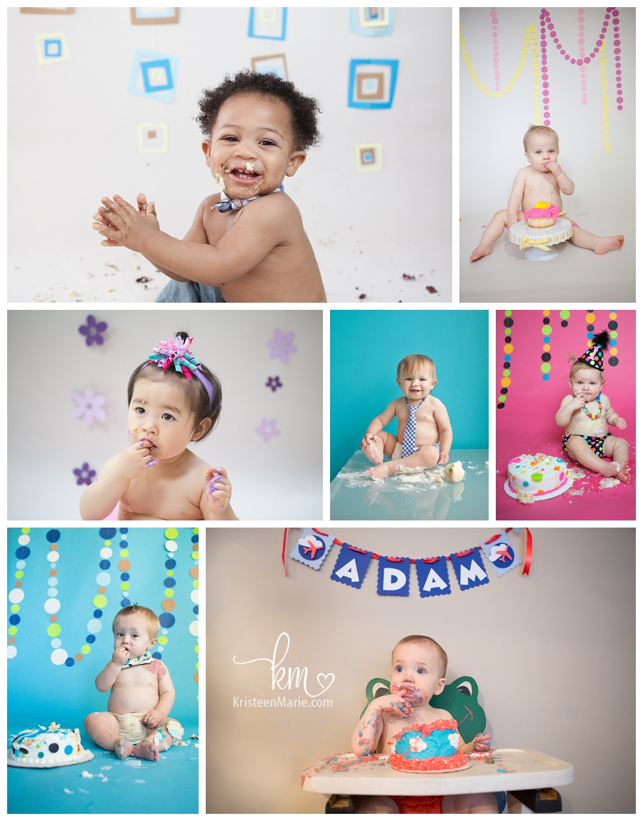 Cake smash sessions in Indianapolis