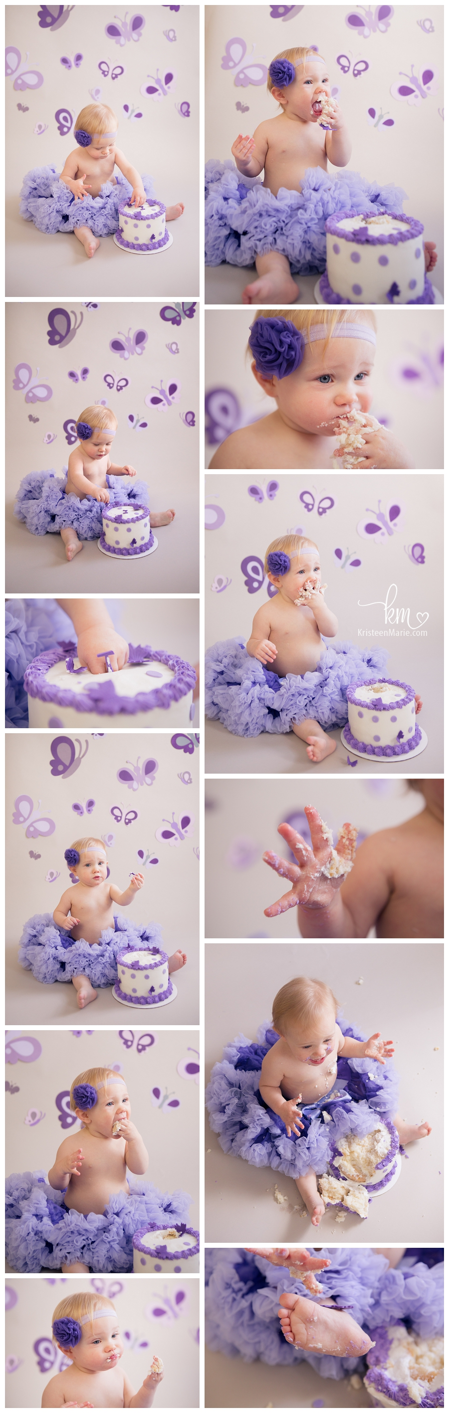 Butterfly themed cake smash session