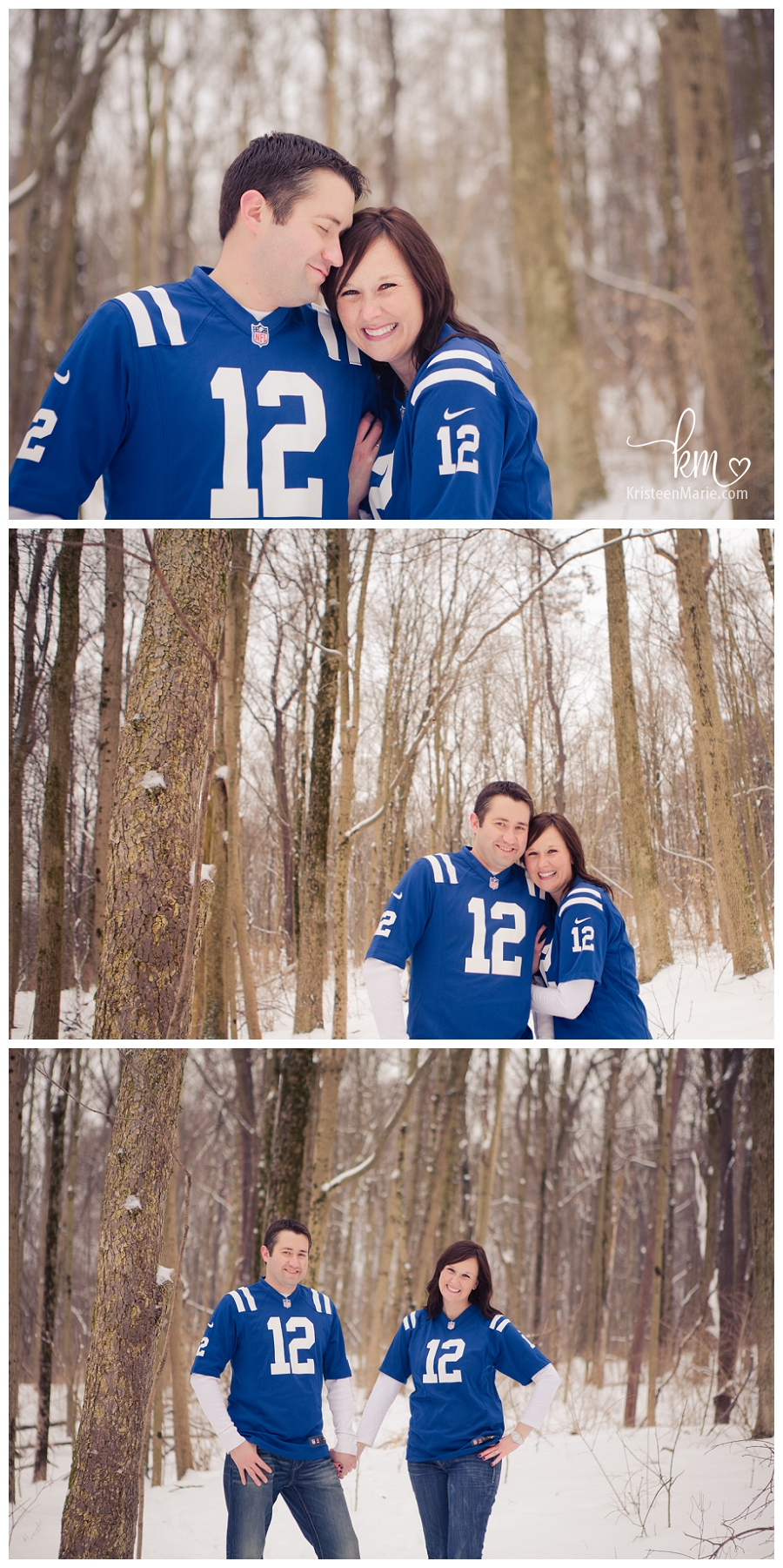 Couple in Colts jersey