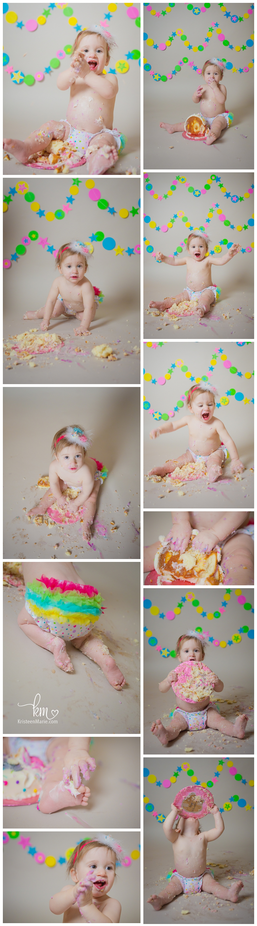 Cake smash session in Westfiled, IN