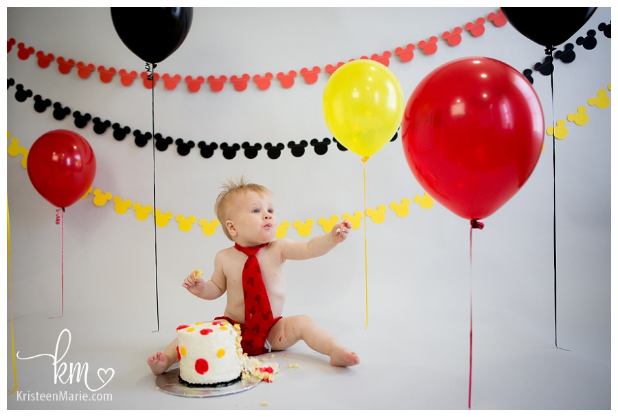 Mickey Mouse Smash Cake: Indianapolis Child Photography