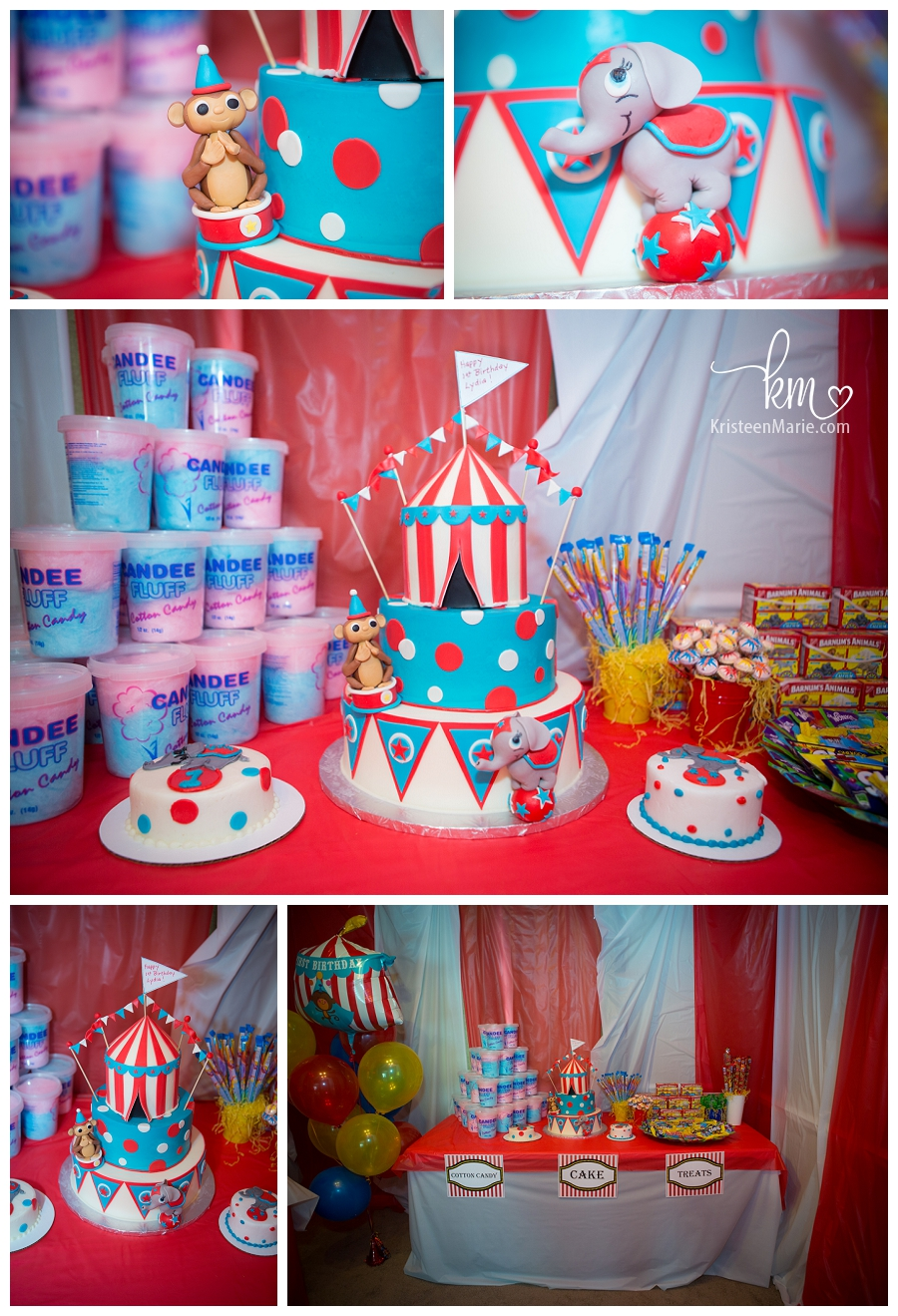 Epic Circus Themed 1st Birthday Cake