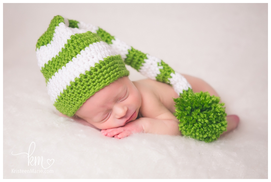 Little guy with green hat