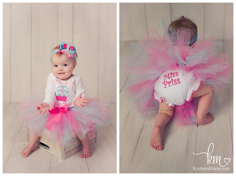 Cake smash outfit - tutu and diaper cover