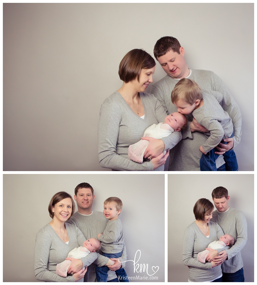 Fishers family with newborn baby