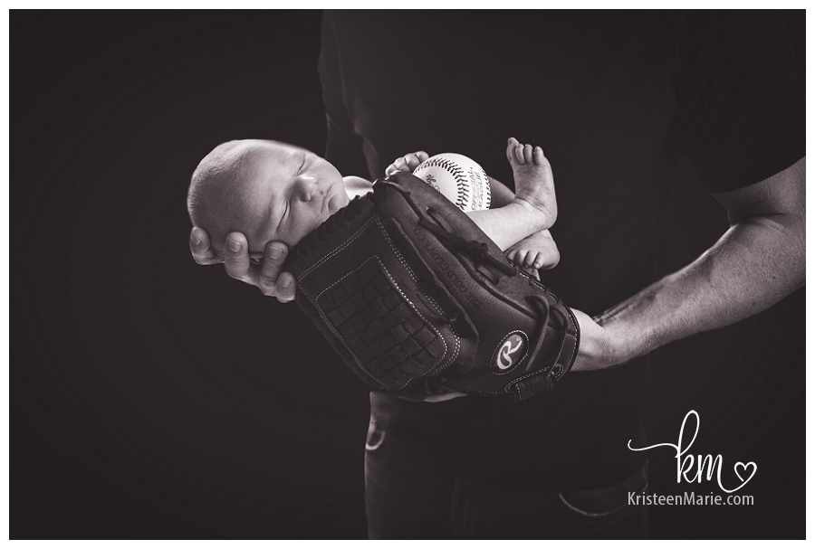 newborn in baseball mit