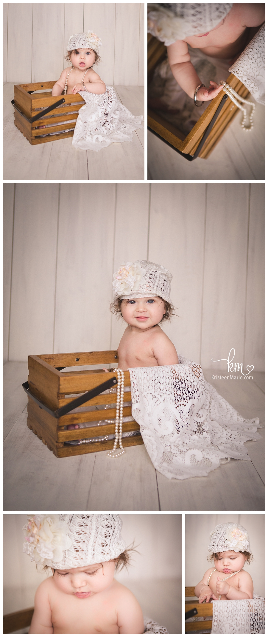 Pearls and Lace - child photography