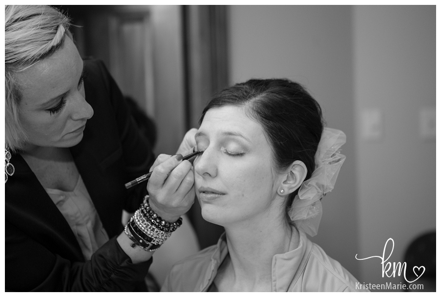 make up on the bride