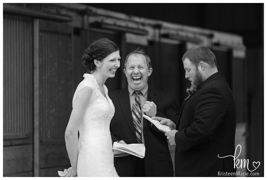 Emotion during the wedding ceremony