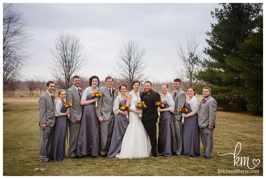 The wedding party on K&S Farms