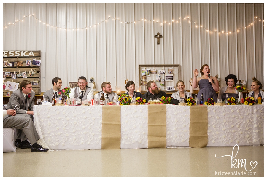 the head table - bridal party