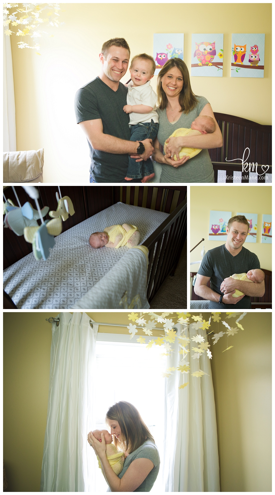 newborn nursery and family