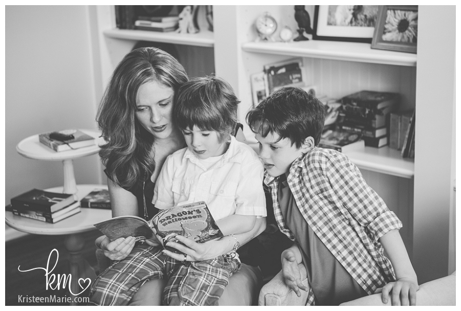 reading with the family