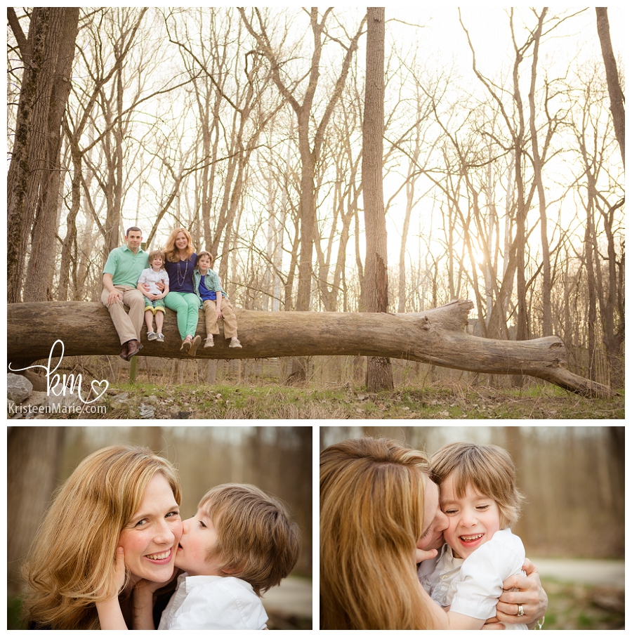 outdoor family pictures in Indianapolis
