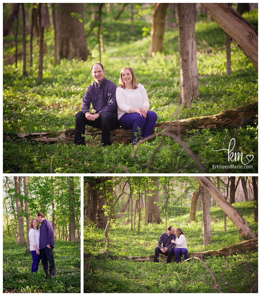 100 Acre Woods in Indianapolis, IN - engagement photography