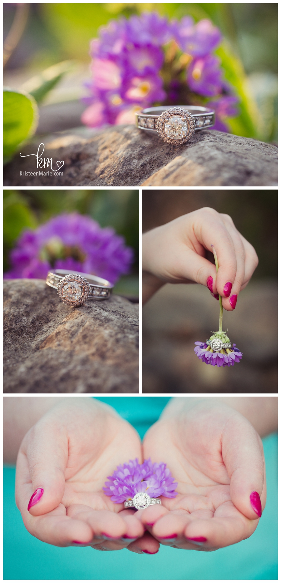 beautiful engagement ring - spring inspired