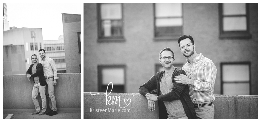 black and white gay engagement photography