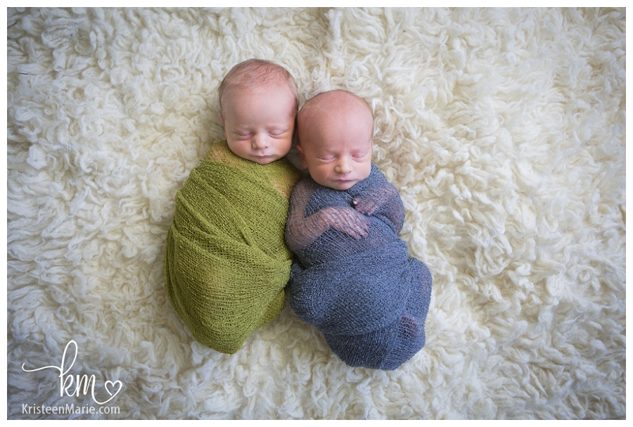 Newborn twin boys from indianapolis