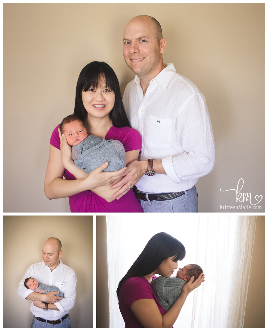Zionsville family with newborn
