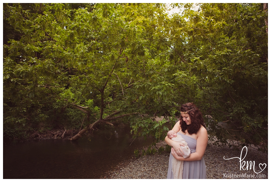 mom and newborn boy - Indianapolis photography