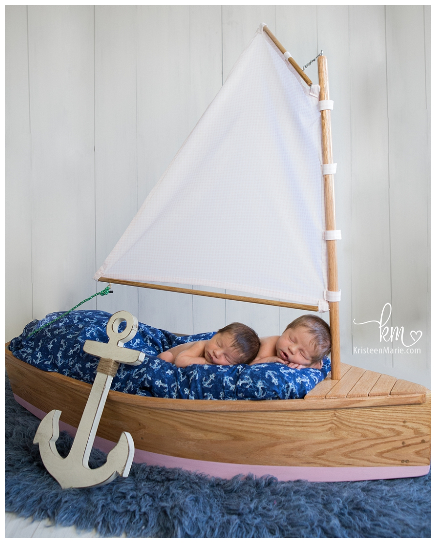 Twin Girls Fishers Indiana Newborn Photography