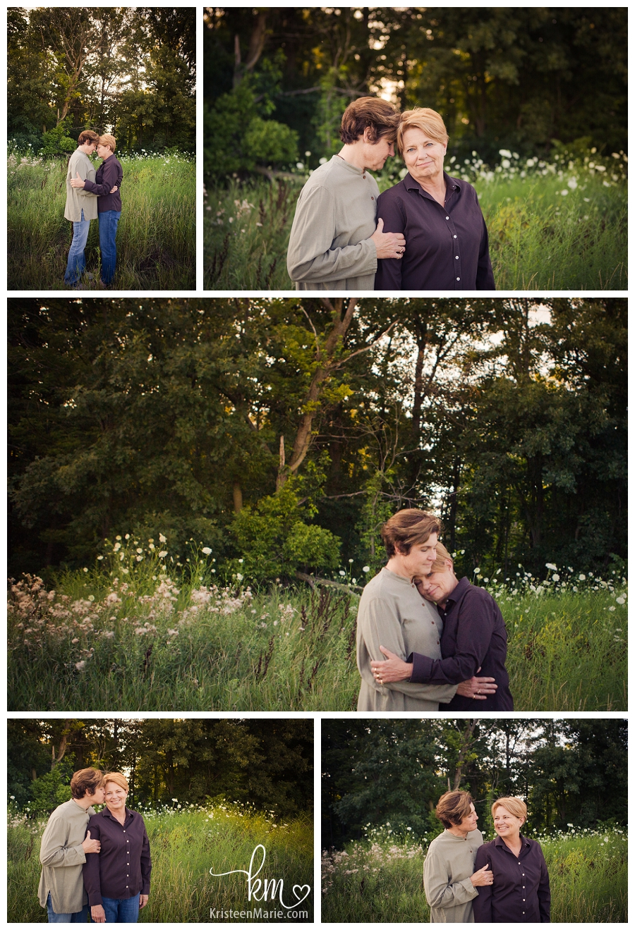 same sex couple in field in Indianapolis
