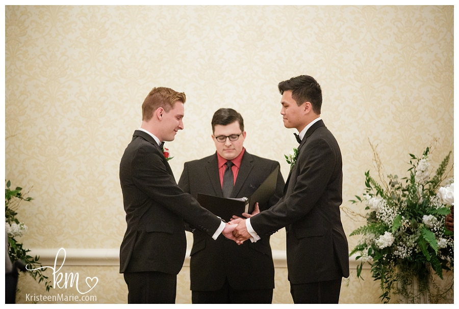 gay wedding at Omni Hotel Indianapolis