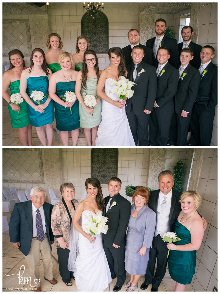 Family pictures at wedding at  Valle Vista