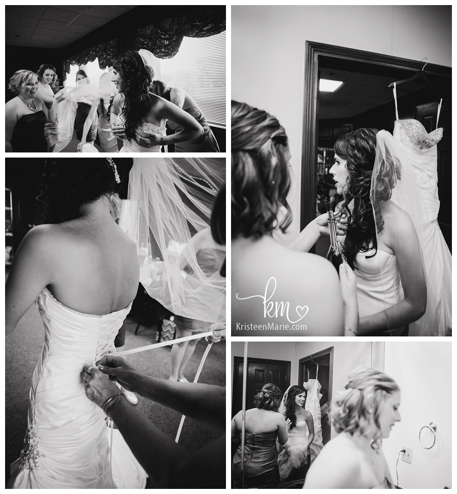 black and white getting ready pictures