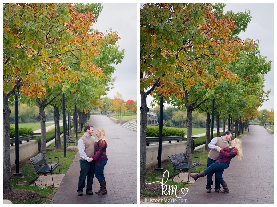 pretty fall leave - Downtown Indy Engagement
