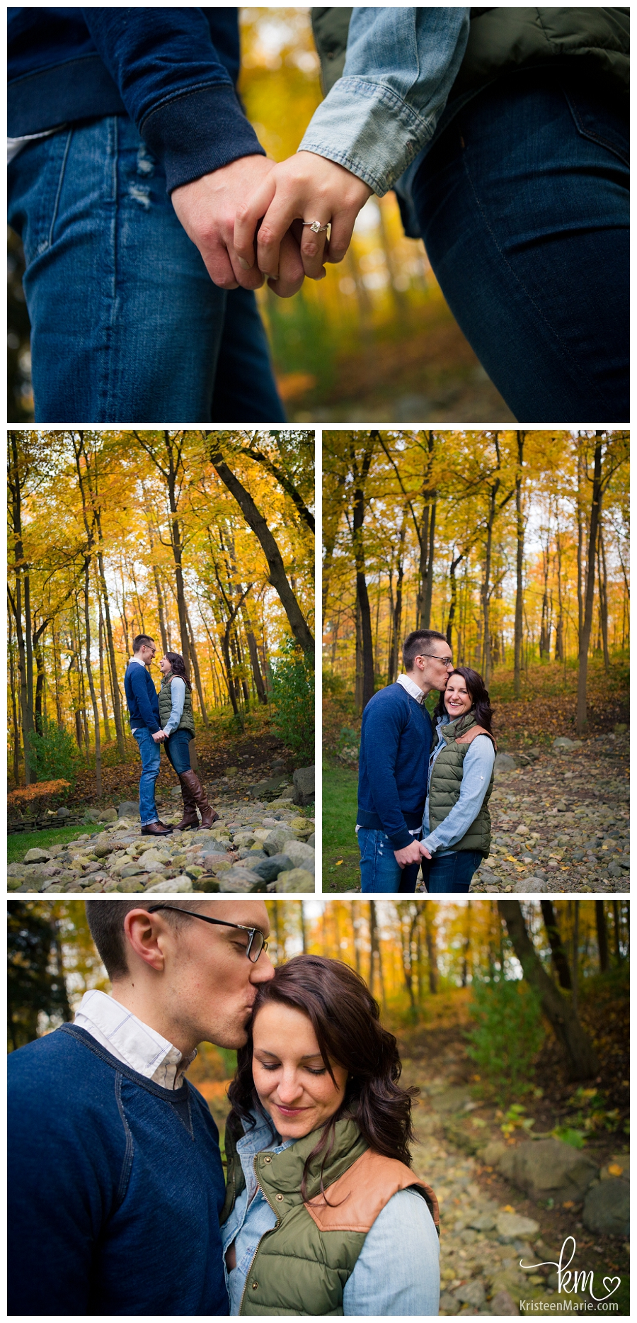beautiful fall engagement pictures