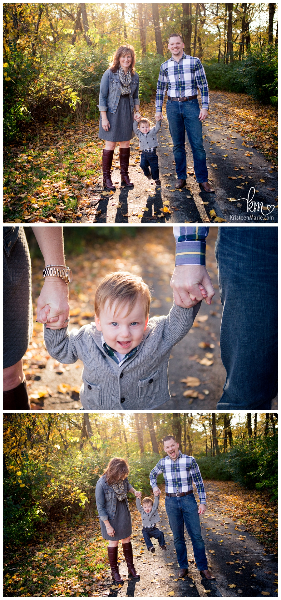 beautifully backlit family pictures