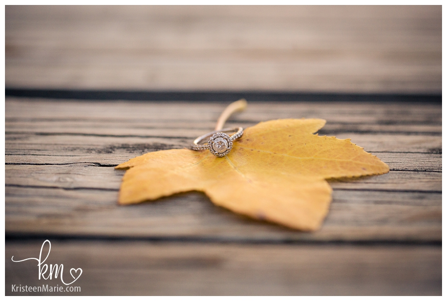 beautiful ring on leaf