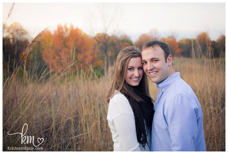 stunning Fall colors for engagement photography in Indianapolis