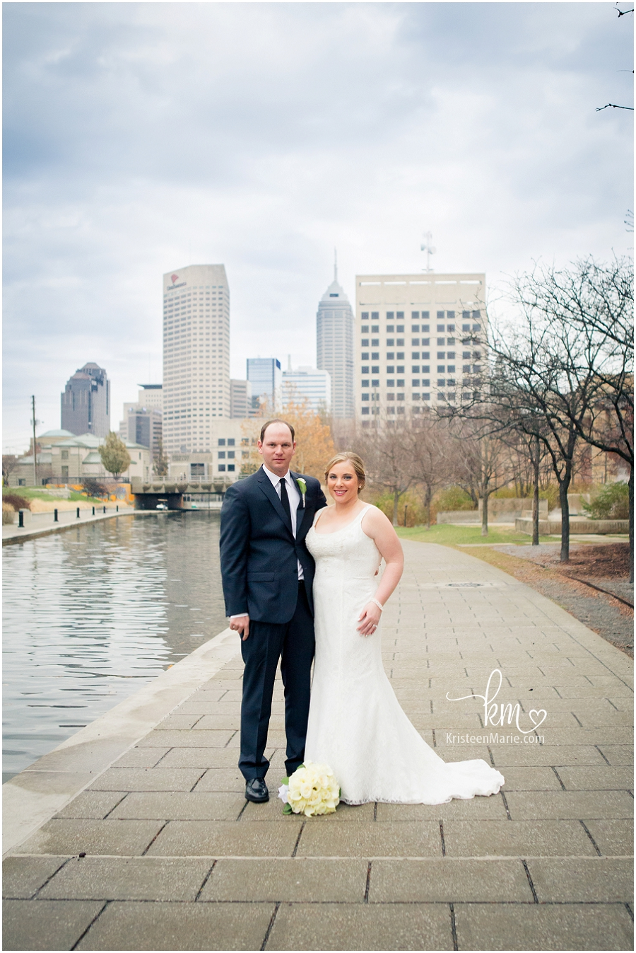 Downtown Indianapolis Wedding Photography - City Backdrop