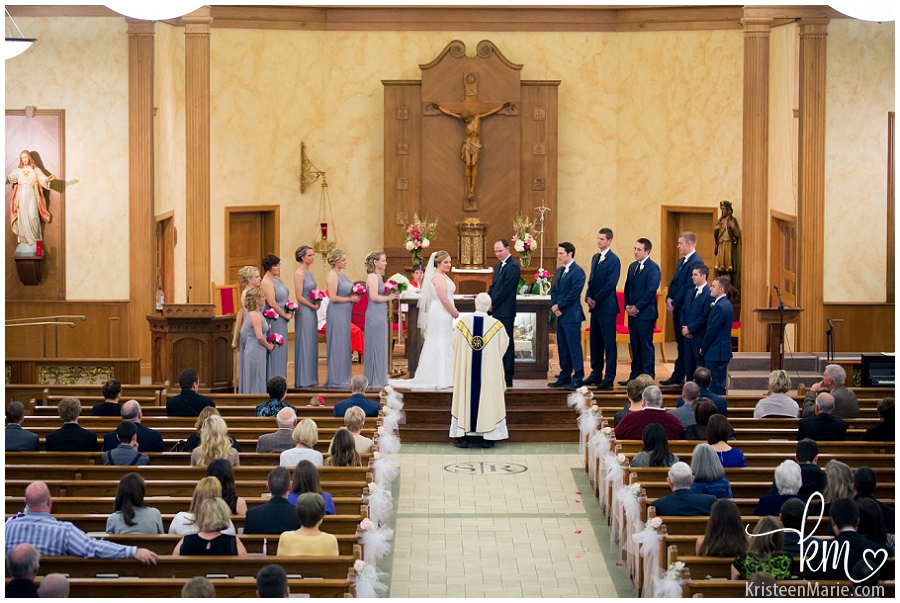 Wedding at St. Roch Catholic Church in Indianapolis, Indiana
