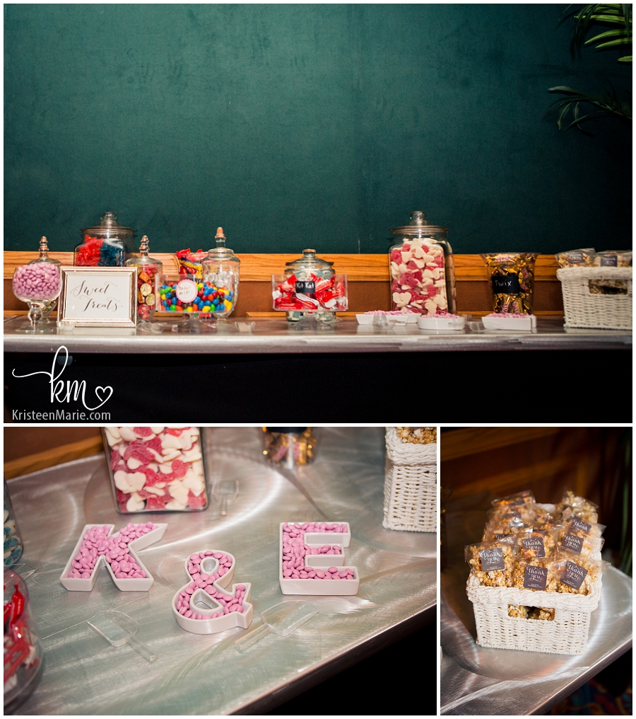 sweet treats at the wedding