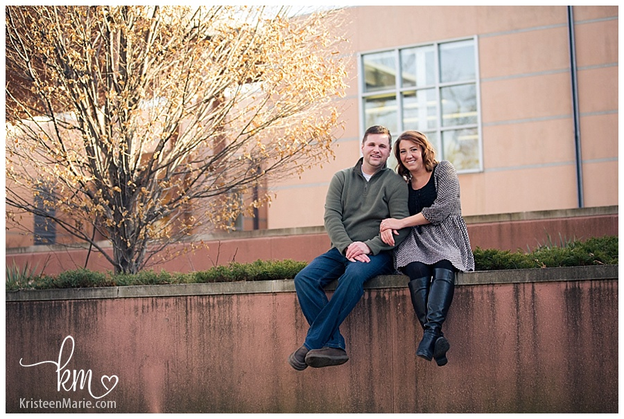 Engagement photography at the Indianapolis Art Center in Broadripple