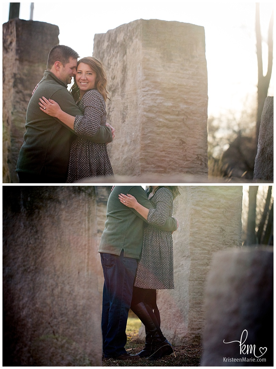 beautifully lit engagement photography