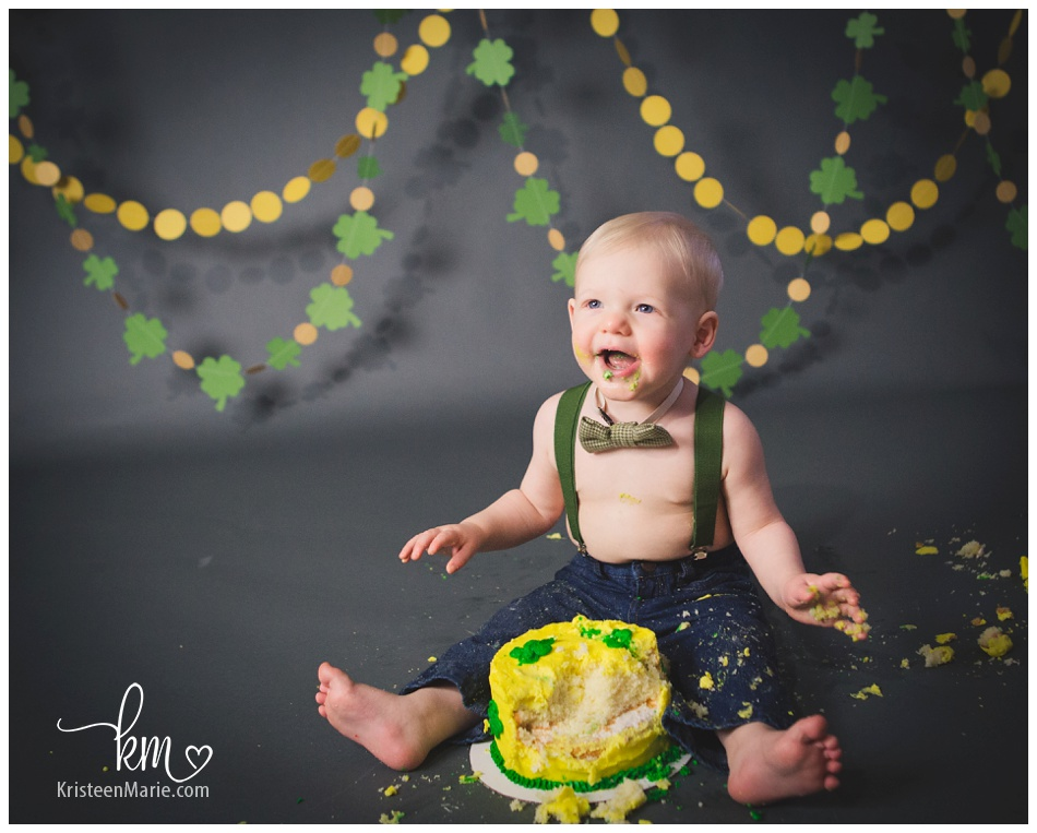 St Patrick S Day Cake Smash Session By Kristeenmarie