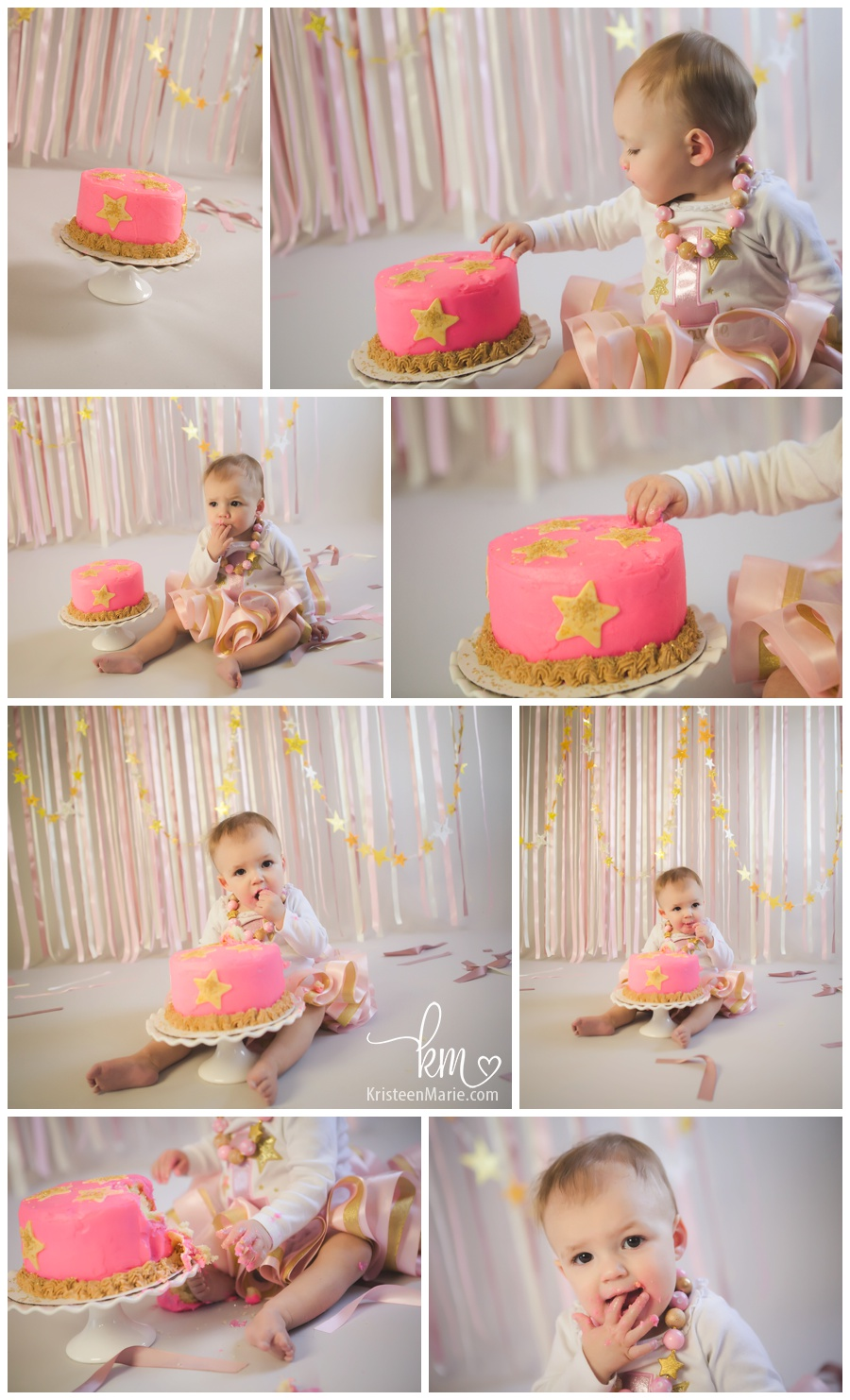 twinkle twinkle little star themed cake smash session