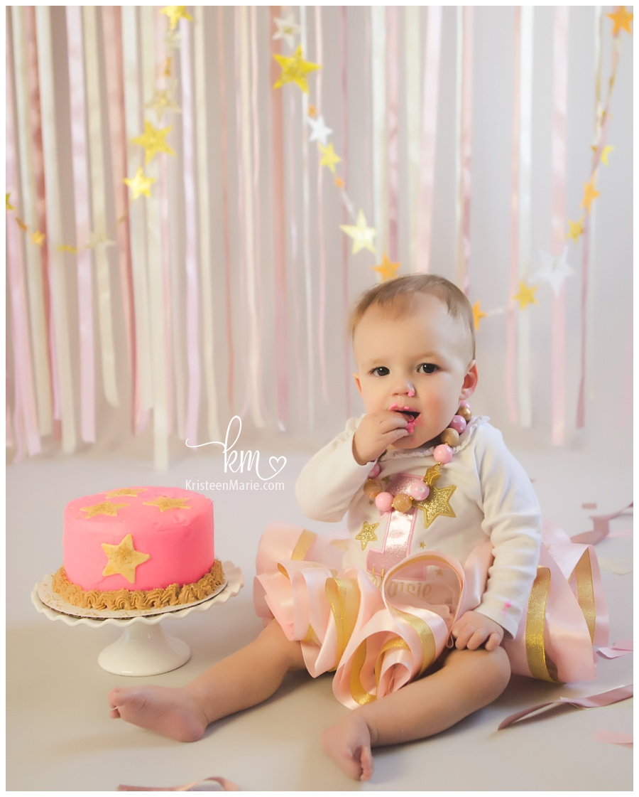 Zionsville cake smash photography