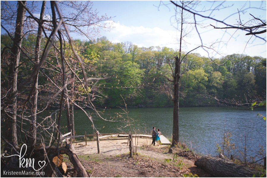Pull back shot of Brown County State park before proposal
