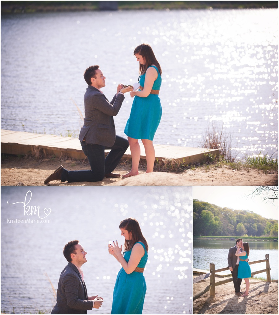 Proposal at Brown County Park in Indiana