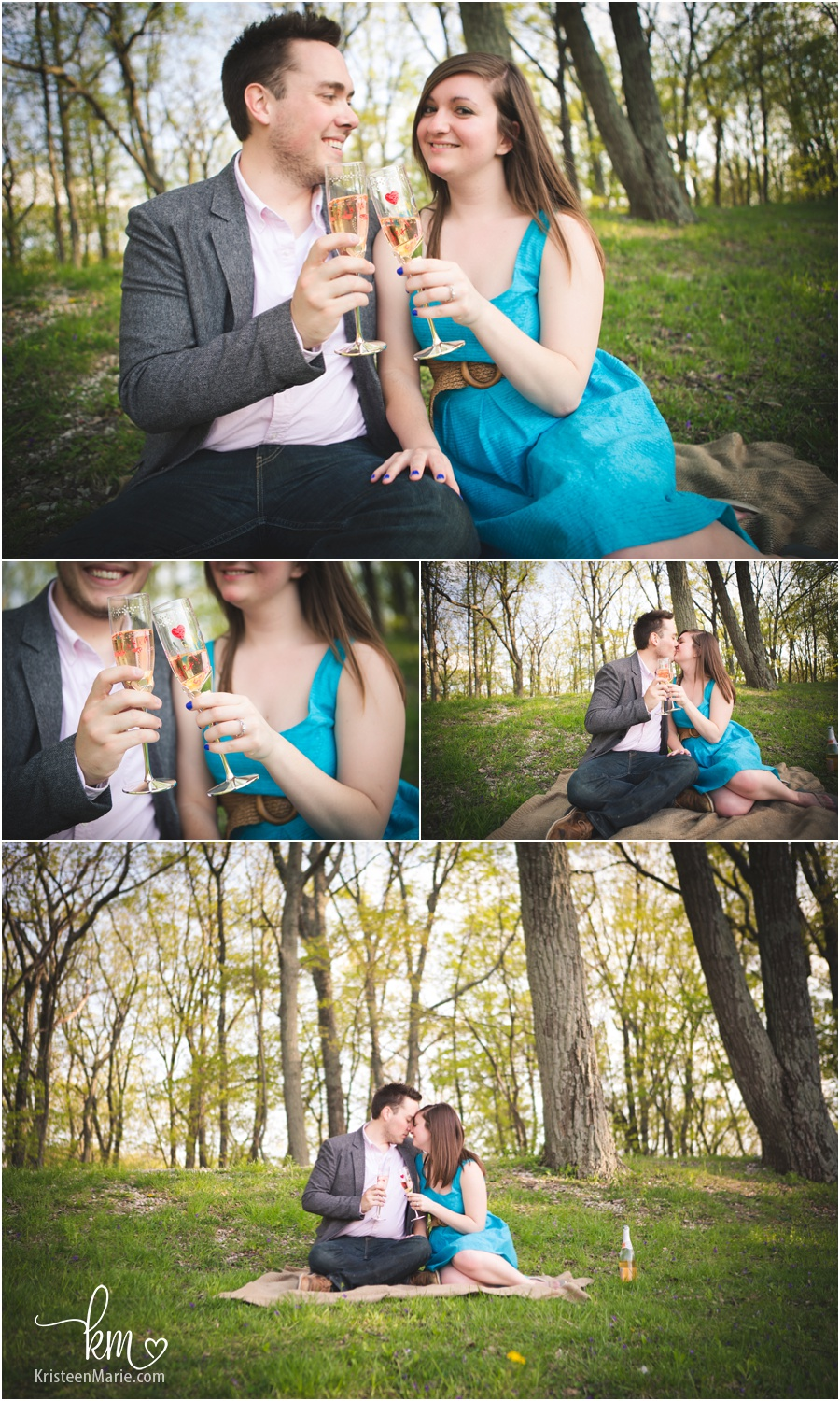a post engagement picnic at Brown County Park in Indiana