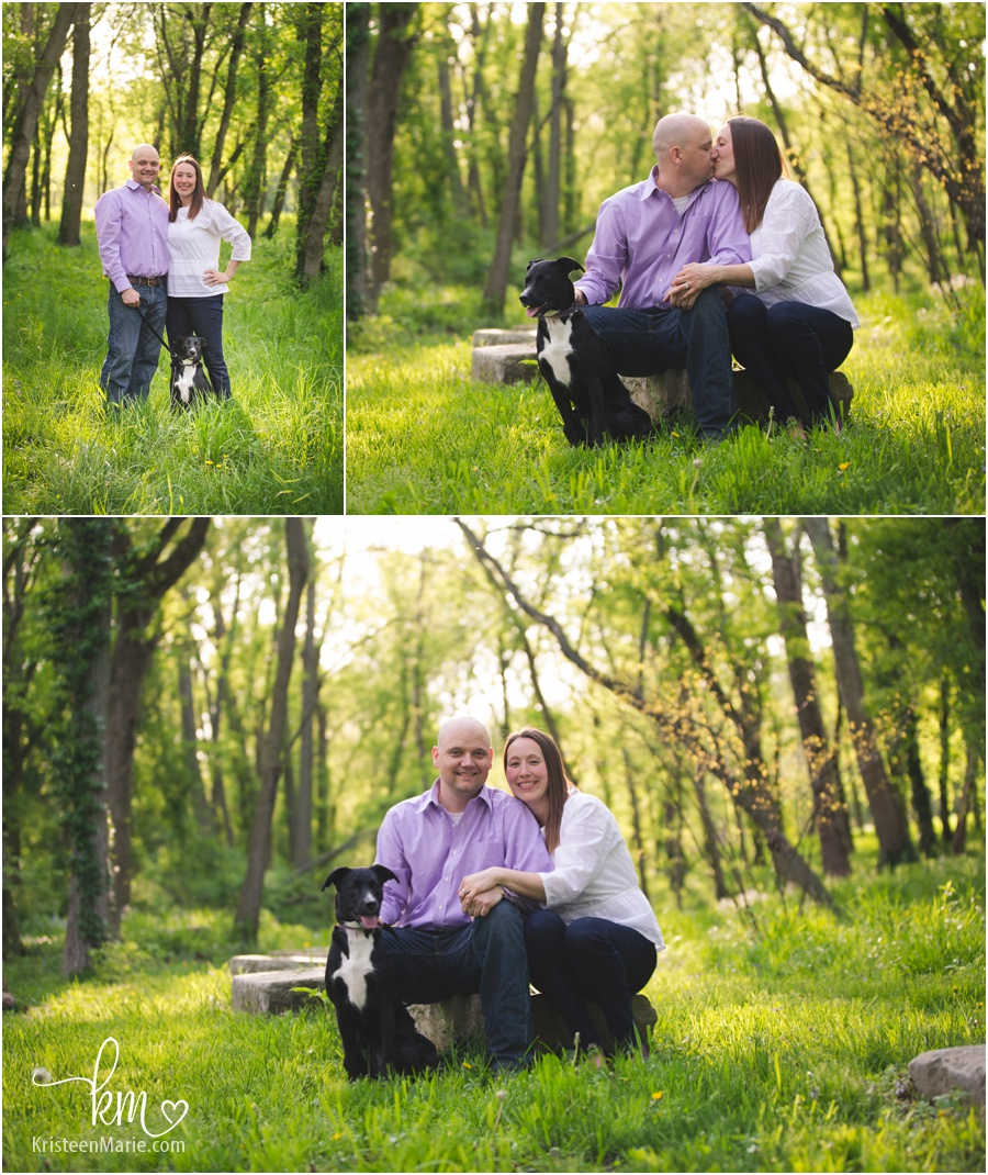 Indianapolis engagement session at the 100 Acre Woods