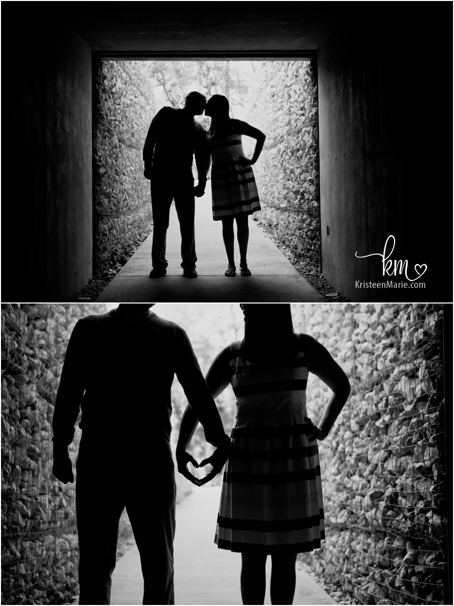 silhouette engagement shot
