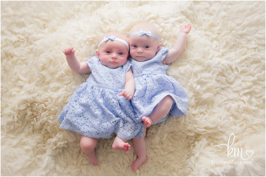 Twin 3 month old girls