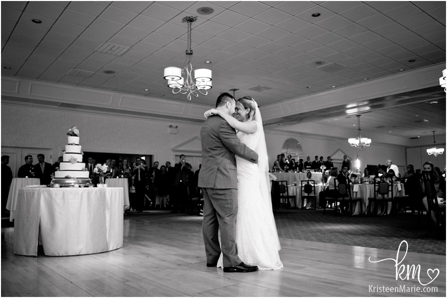 bride and groom's frist dance at Ritz